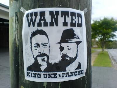 Poster attaccato su un palo del telefono a Brisbane in Australia
