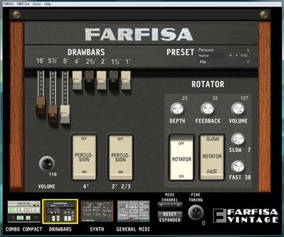 farfisa vintage drawbars